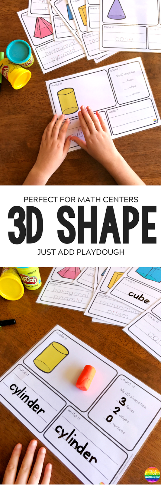 3D Object Printable Playdough Mats | you clever monkey