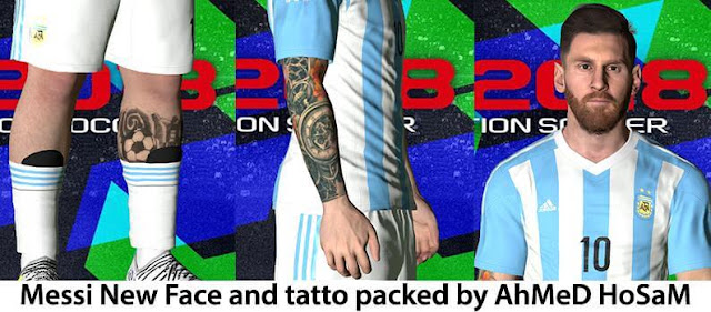 Messi New Face & Tattoo PES 2017