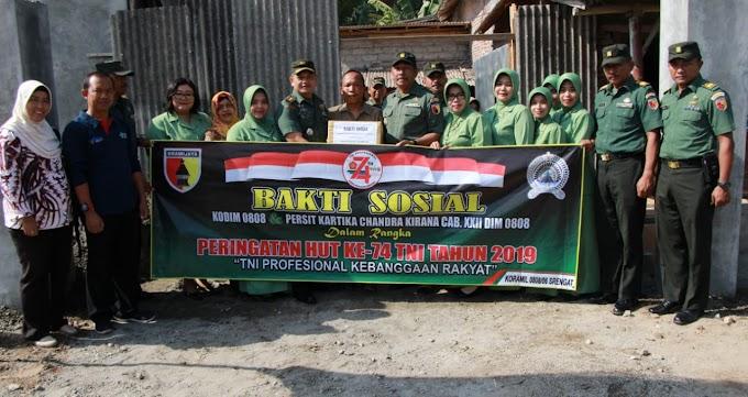 Peringati HUT TNI ke 74, Kodim 0808/Blitar Gelar Bhakti Sosial