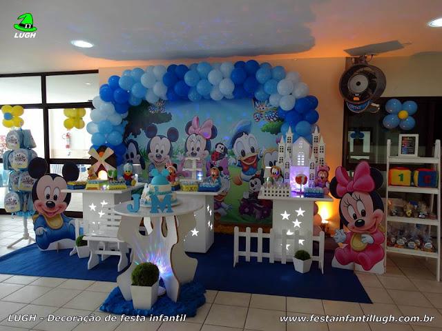 Decoração infantil Baby Disney para festa de aniversário - Provençal simples