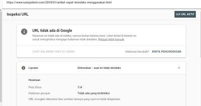 tips artikel cepat terindeks google