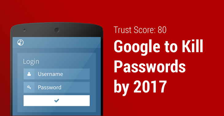 Google Trust API plans to replace your Passwords with Trust Score