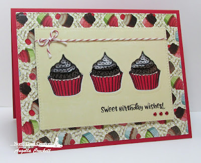 North Coast Creations Sprinkled with Love Stamps and Dies, NCC Sweet Shoppe Paper Collection, ODBD Custom Pierced Rectangles Dies, Card Designer Angie Crockett