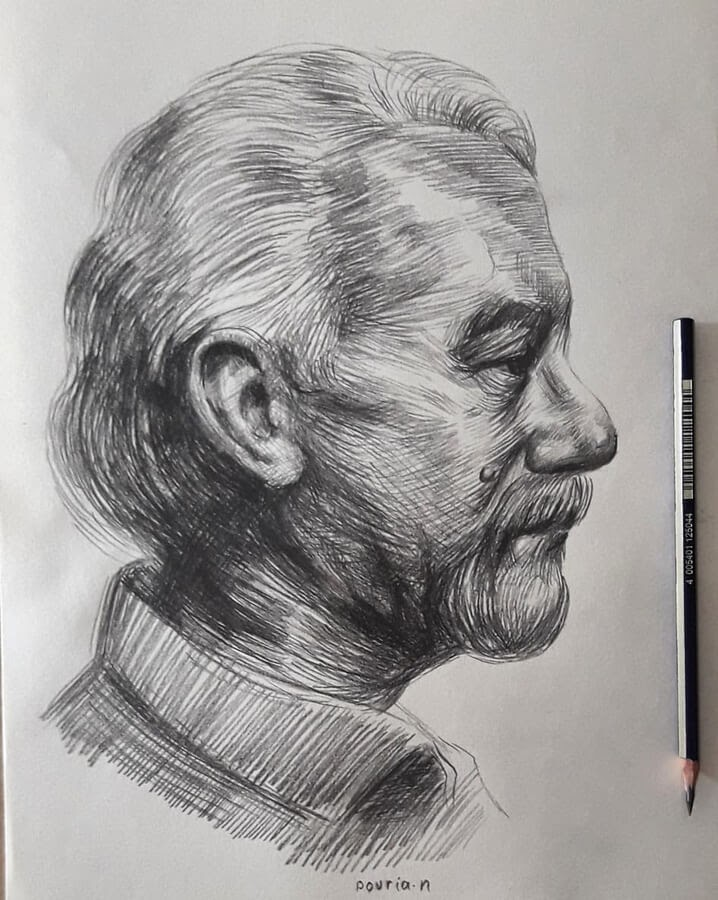 04-Portrait Drawings Pourianahaei-www-designstack-co