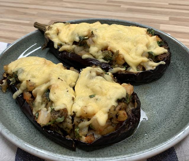 Stuffed Eggplant With Shrimp