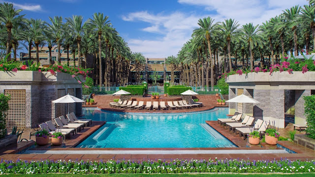 Hyatt Regency Scottsdale Resort and Spa at Gainey Ranch, set amidst flowering cactus and framed against the majestic McDowell Mountains, this Arizona destination resort is surrounded by adventures and miles from the ordinary.