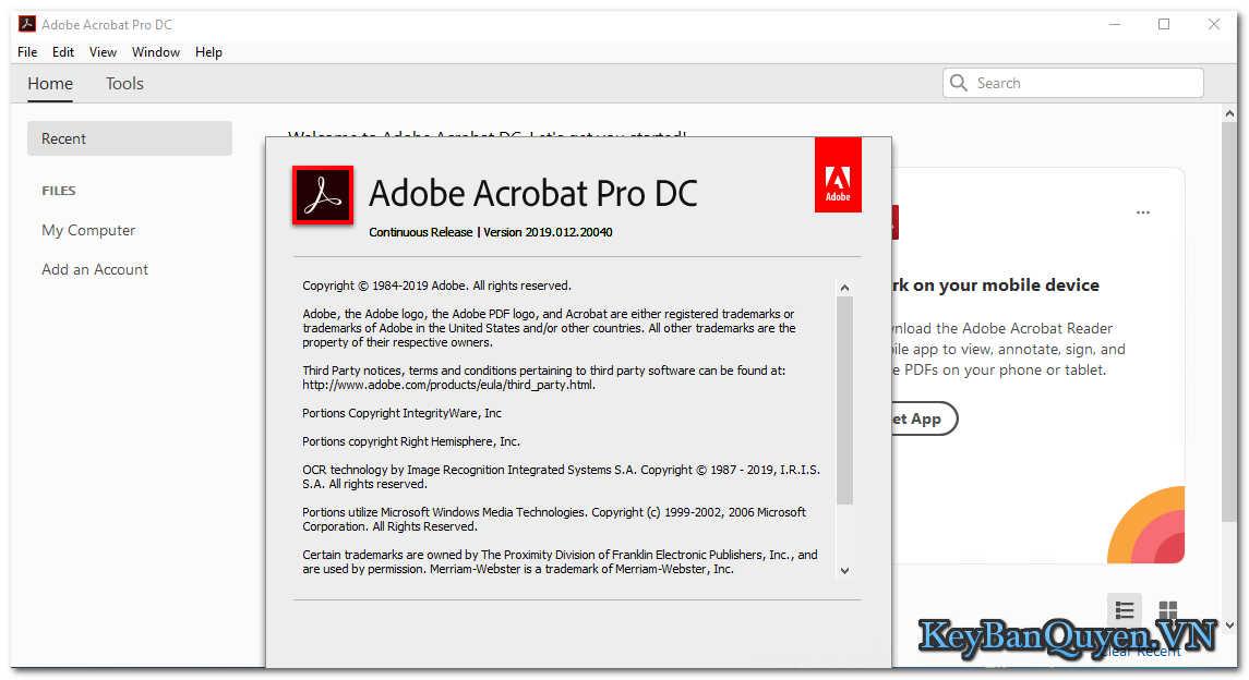 Hướng dẫn tải và cài đặt Adobe Acrobat Pro DC 2019 Full Key, Phần mềm tạo và biên tập file PDF nổi tiếng nhất.