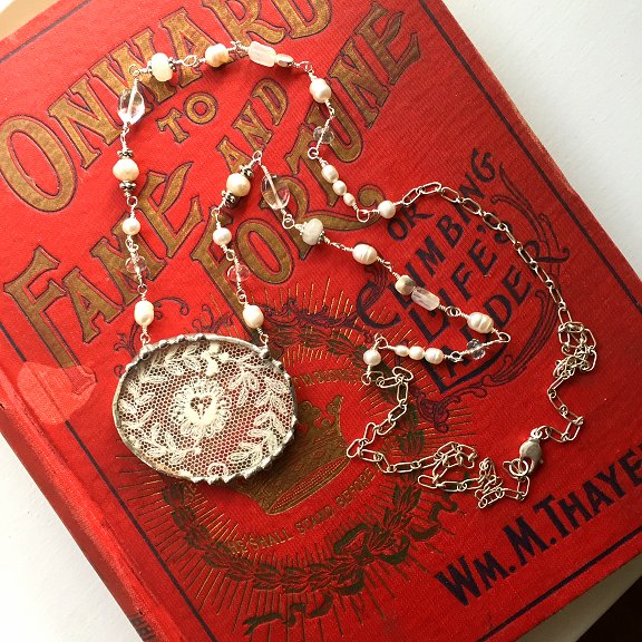 Antique Lace Jewelry by Laura Beth Love Dishfunctional Designs