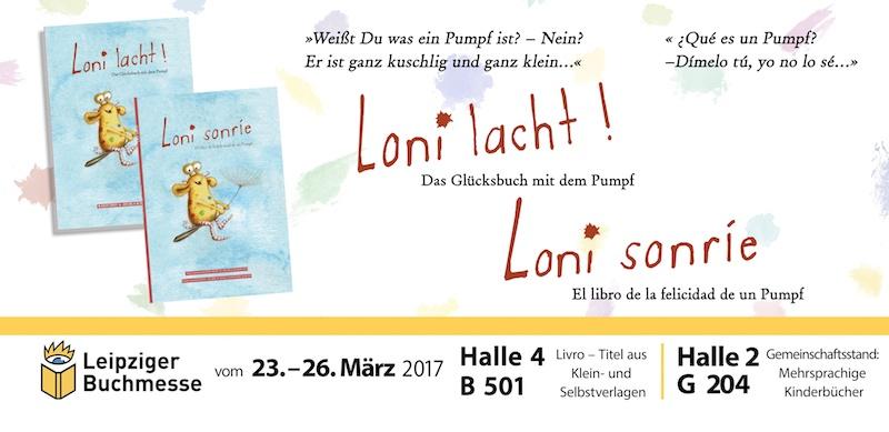 lbm, Leipziger Buchmesse 2017, Pumpf, Loni lacht!, Glücksbuch, Kinderbuch, Resilienz, Loni sonríe