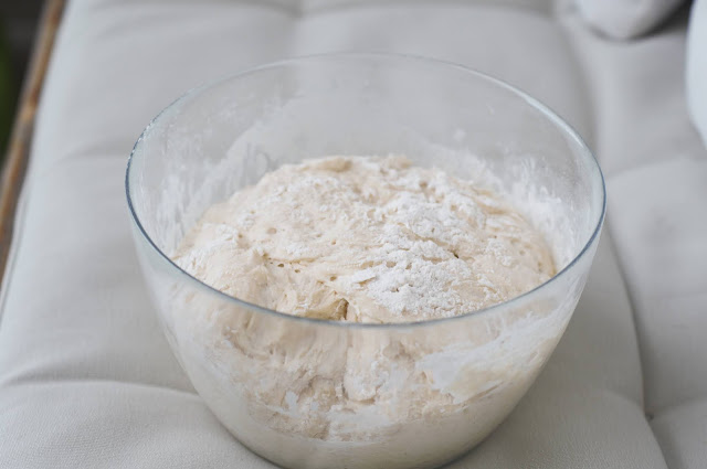 The dough, 1 hour later