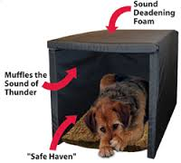 Australian dog lover handling your dog39s thunderstorm phobia for How to soundproof a dog kennel