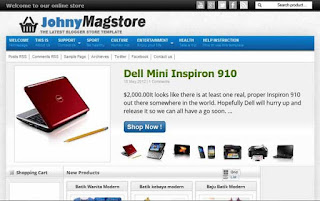Johny Magstore - Template Blog Toko Online