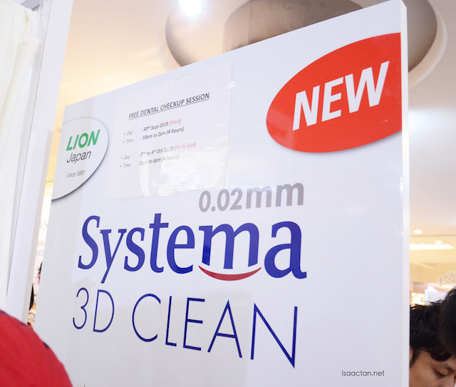 SYSTEMA 3D Clean Toothbrush Roadshow @ 1 Utama Shopping Centre