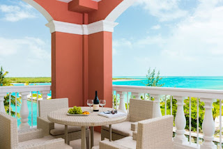 Private balconies adjoin many guest rooms at the Blue Have Resort, Turks and Caicos