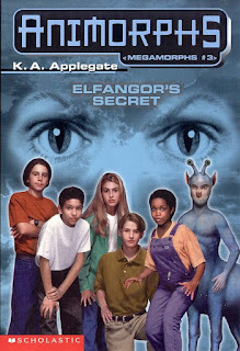 The Animorphs (Jake, Marco, Rachel, Tobias, Cassie, and Aximili) stand together