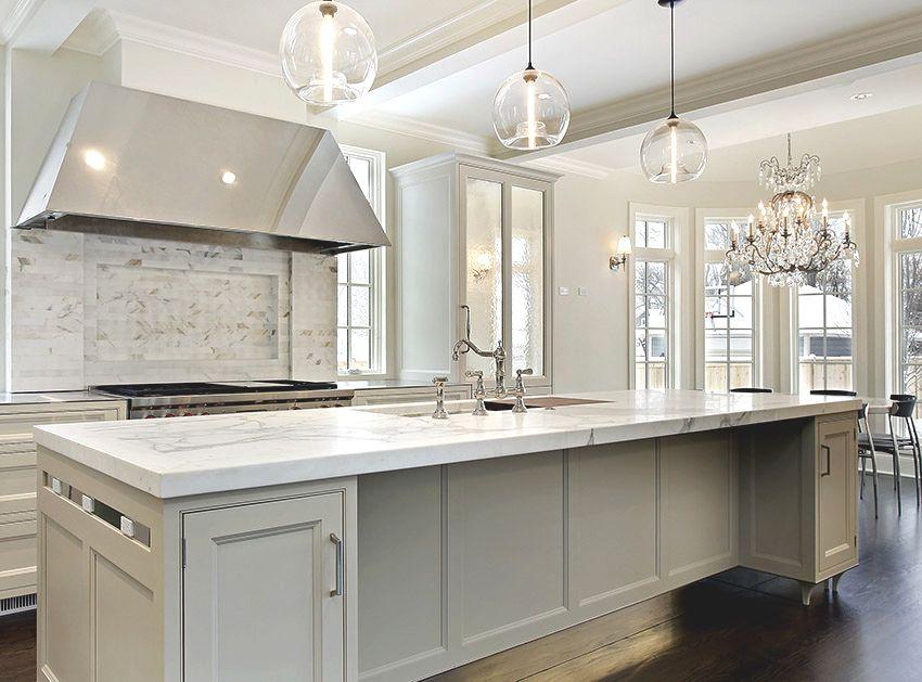 kitchen with white carrara marble