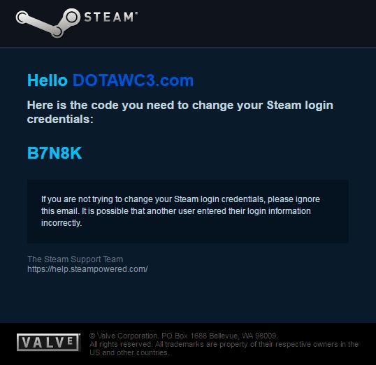 Como cambiar contraseña de DOTA 2 (Steam)