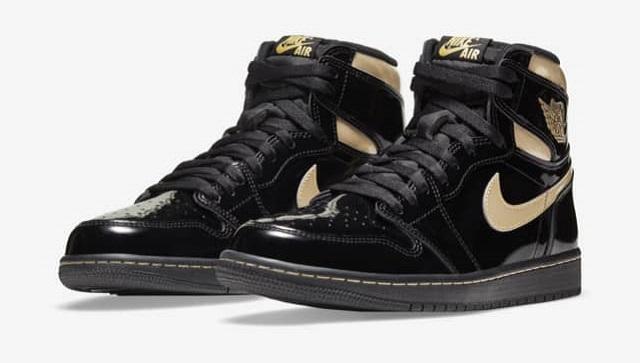 Air Jordan Black Metallic Golden Swooshes