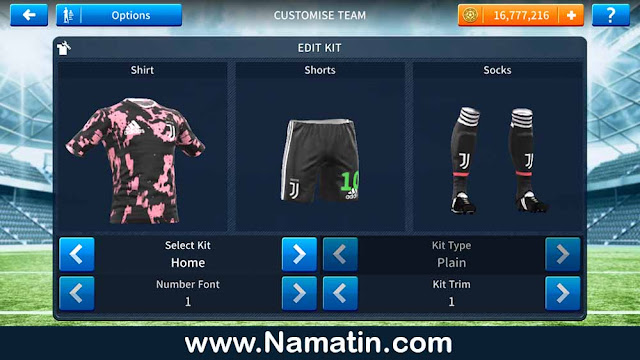 kit dream league soccer juventus away