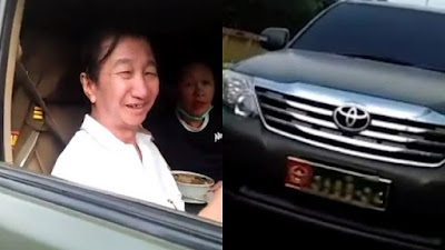 Mobil dinas tni dipakai warga sipil
