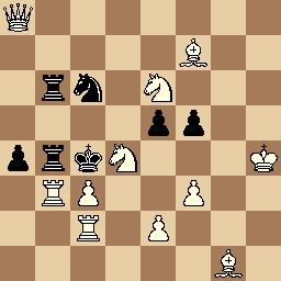 Mate en 2 de Francisco Novejarque, 1933, 1er. premio Els Escacs a Catalunya