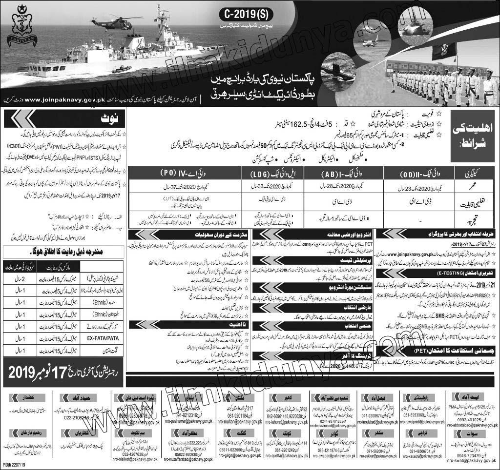 Yards branch pak navy jobs, dae jobs in pakistan navy