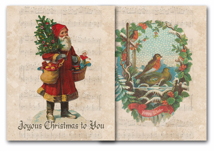 Two Free Vintage Christmas Printables