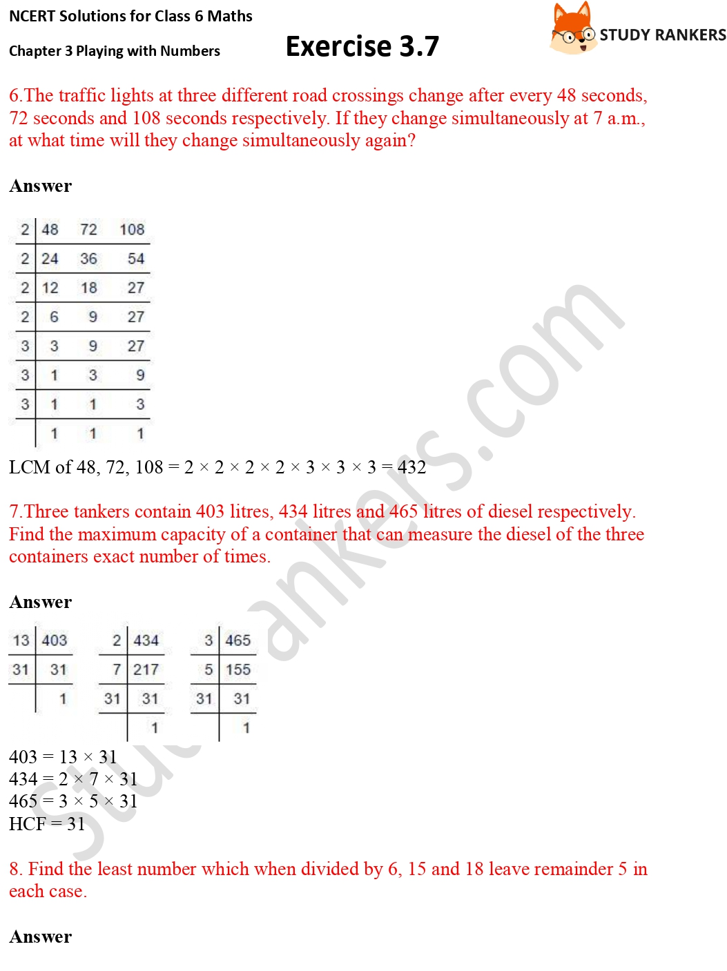 NCERT Solutions for Class 6 Maths Chapter 3 Playing with Numbers Exercise 3.7 Part 3