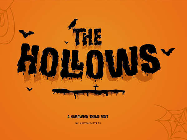 The Hollows Spooky Display Font Free Download