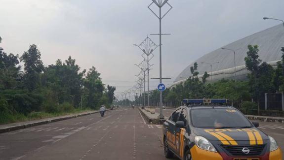 Monitoring Balap Liar Knalpot Bising, Polisi Jaga Akses Jalan Stadion GBLA