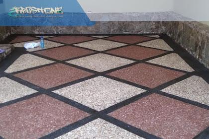 Pasang batu sikat model diagonal
