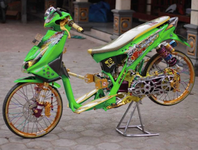 Modifikasi Motor Beat Drag Bike