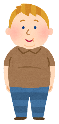 太った西洋人のイラスト(男性)