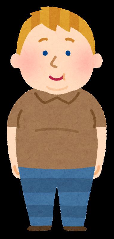 いろいろな太った西洋人のイラスト男性 かわいいフリー素材集
