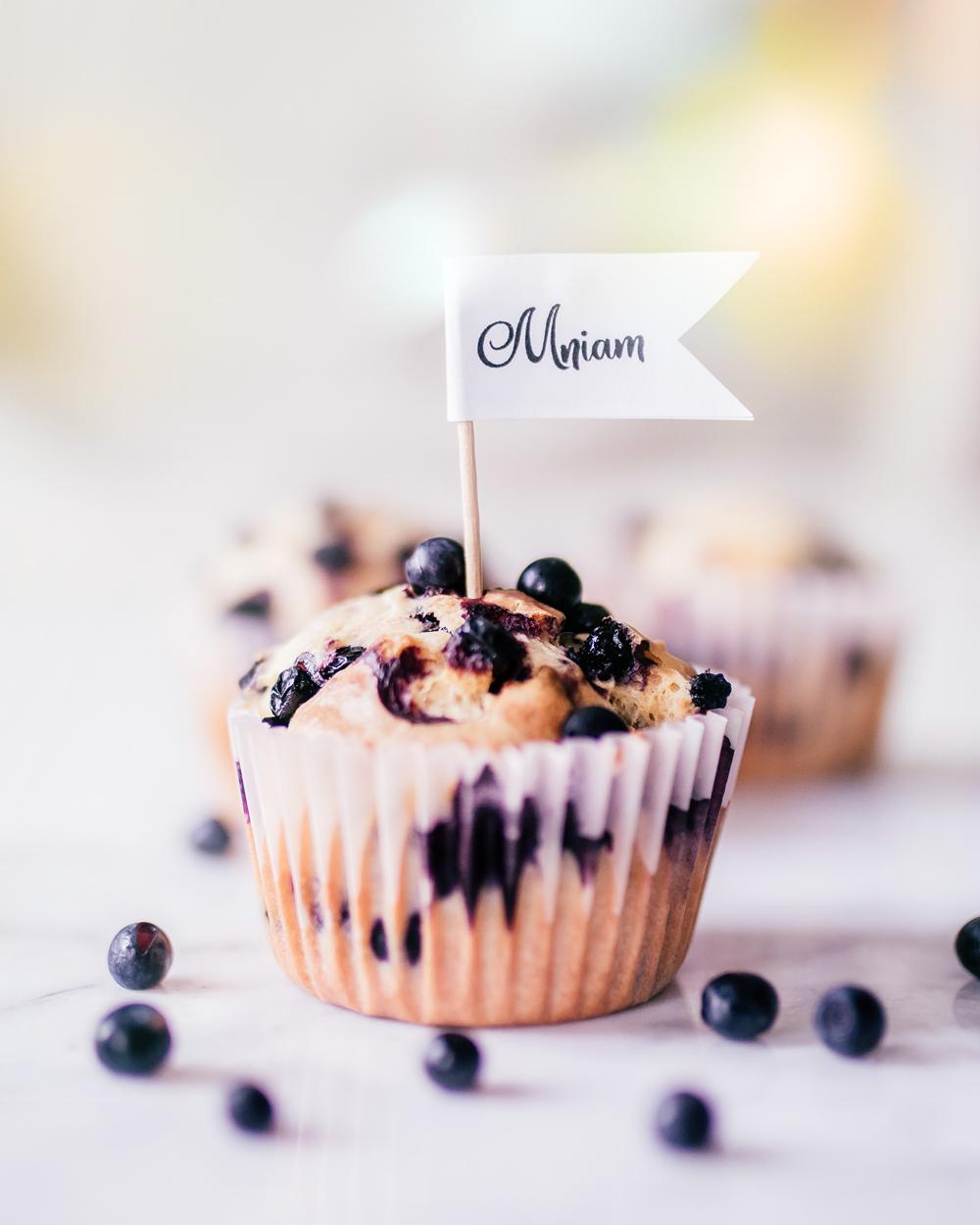 Jogurtowe muffinki z jagodami prosty przepis