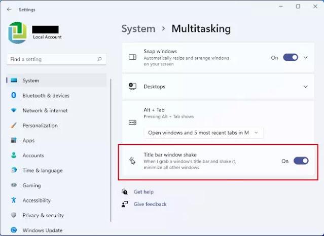 Cara Mengaktifkan Fitur Aero Shake di Windows 11-2