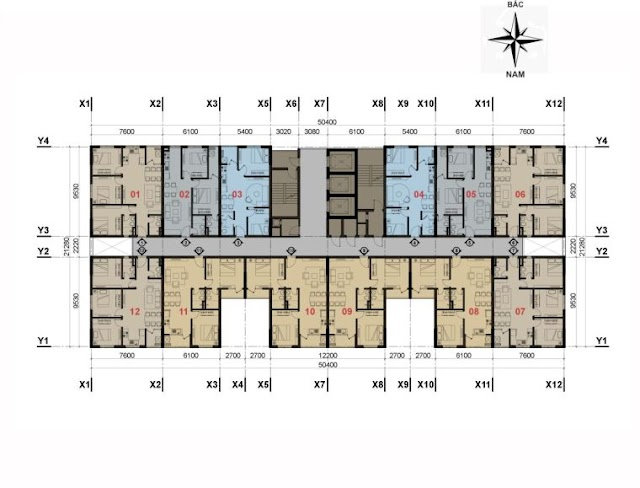 Thiết kế Tòa V4 & V5 nhà ở xã hội The Vesta Phú Lãm Hà Đông