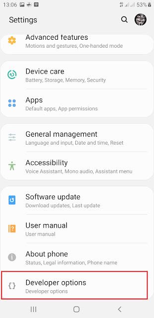 تسريع هاتف الاندرويد باستخدام خيارات المطور