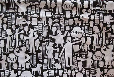 68d0d131437821 Gefilte Quilt  Flip Flop Coffee Dots