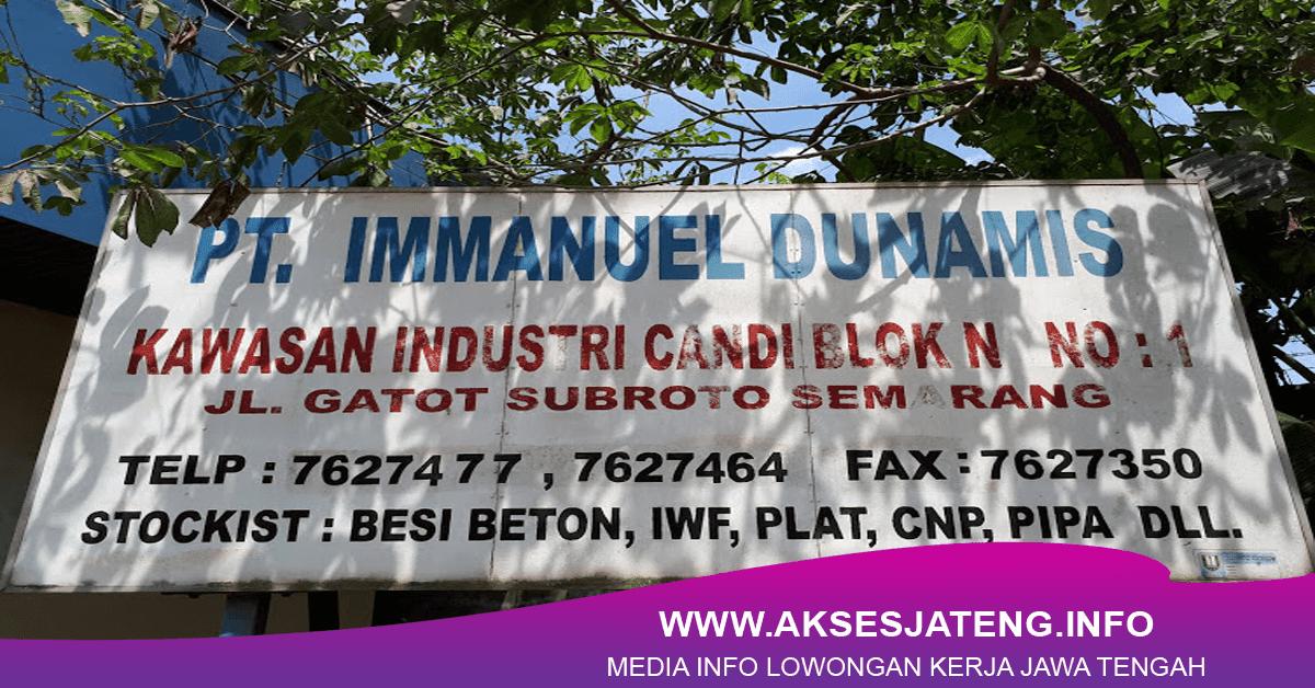 Lowongan PT Immanuel Dunamis Semarang Januari 2018