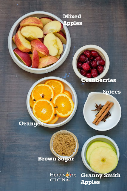 Ingredients for Instant Pot Apple Cider