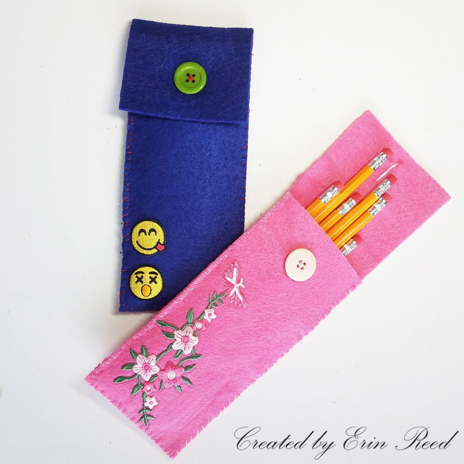 creating with joy flower emoji felt pencil cases