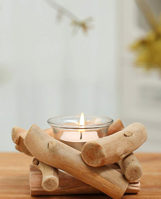 Tealight Driftwood Candle Holder