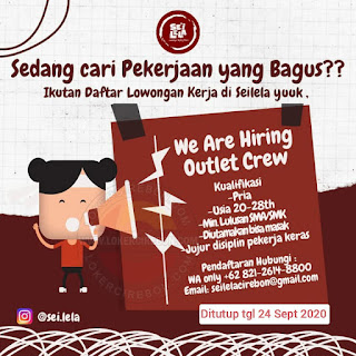 Lowongan Kerja Outlet Crew Seilela Cirebon