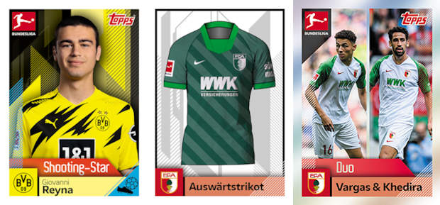 Sticker 281 TOPPS Bundesliga 2020//2021 Breel Embolo