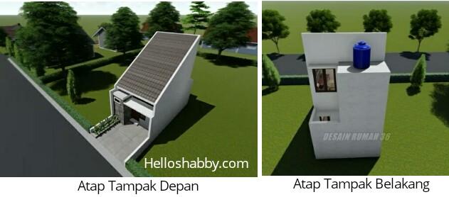 Desain Dan Denah Rumah Minimalis 4 X 10 M Dengan 2 Kamar Tidur Dan Tampilan Fasad Batu Alam Yang Elegan Helloshabby Com Interior And Exterior Solutions
