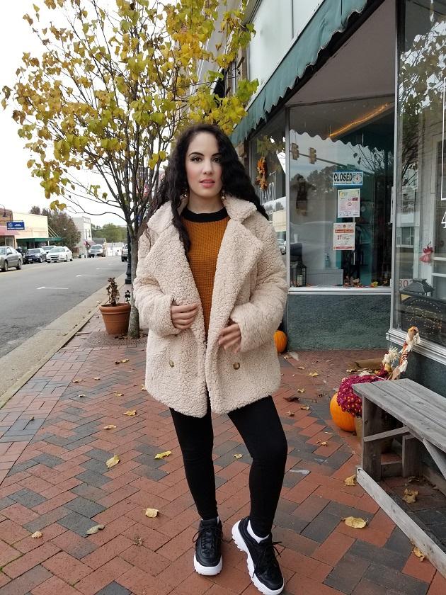 SHEIN Cream Teddy Coat