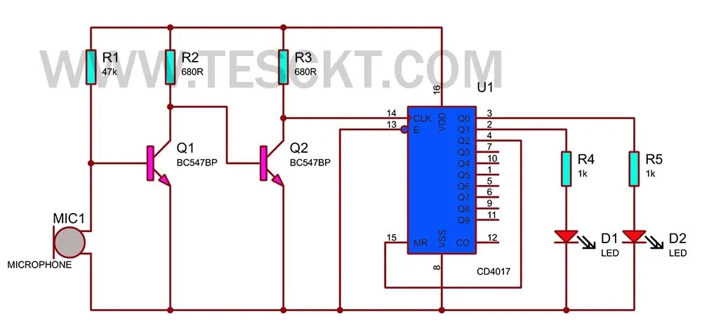 clap switch for lights on off circuit