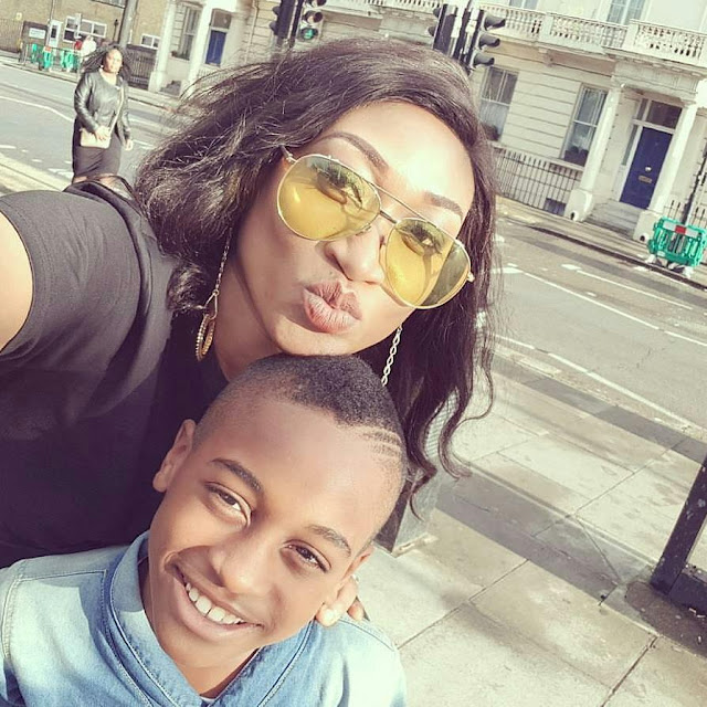Top Actress, Oge Okoye Pictured With Her Son