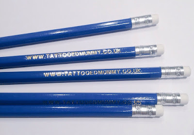 www.tattooedmummy.co.uk personalised pencils